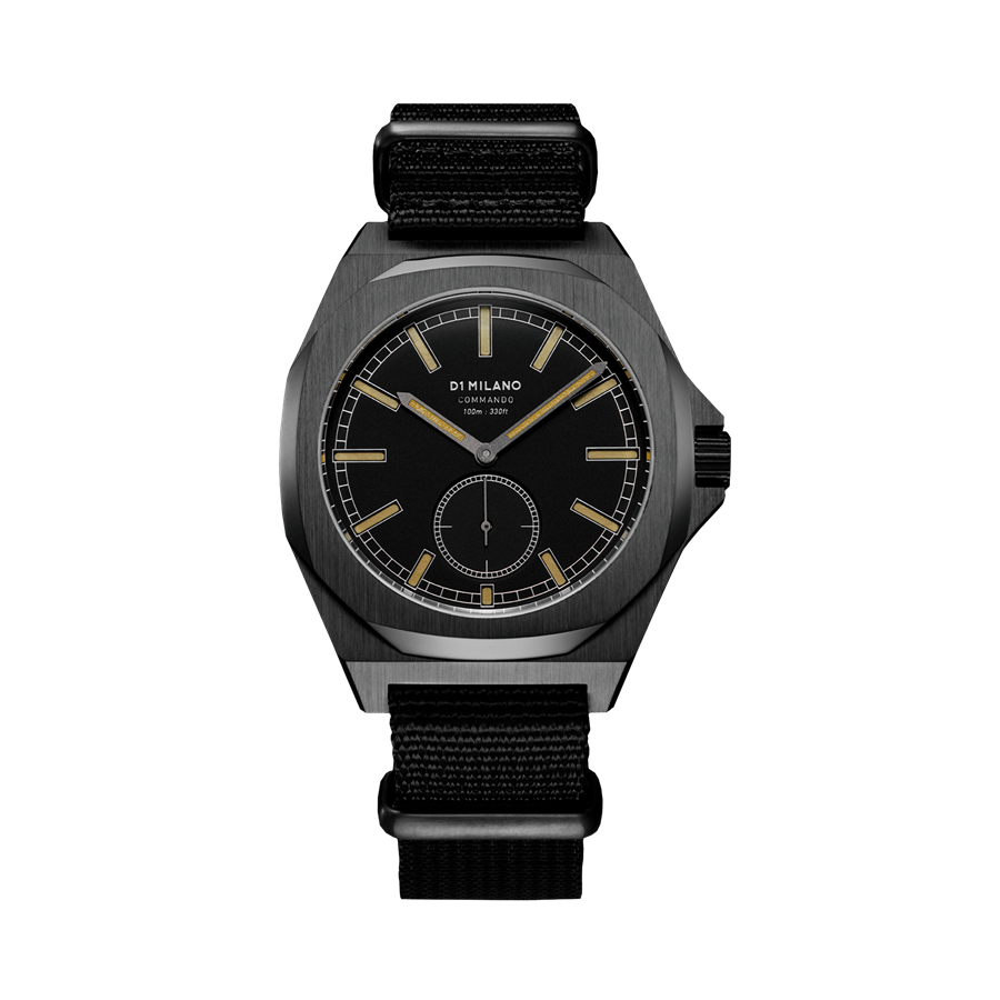 D1- Milano Commando Black Nato Strap Watch MTNJ01