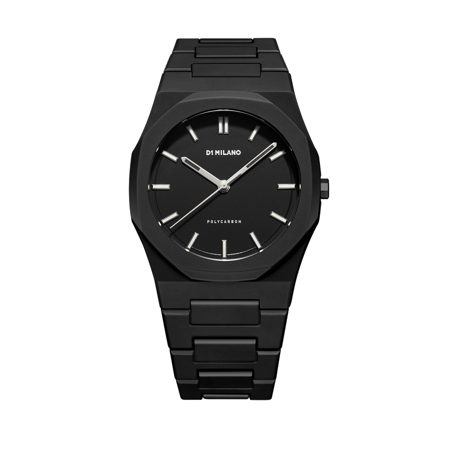 D1- Milano Polycarbon Black Luminova Watch PCBJ11