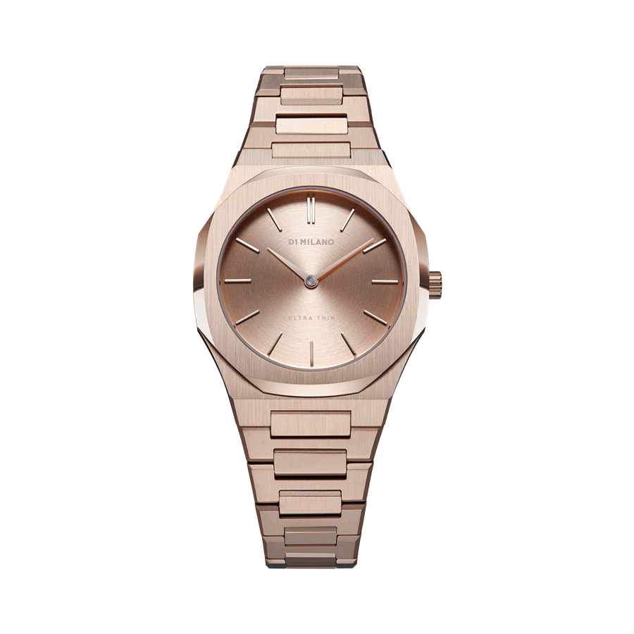 D1- Milano Ultra Thin Rose Gold Steel Watch UTBL04