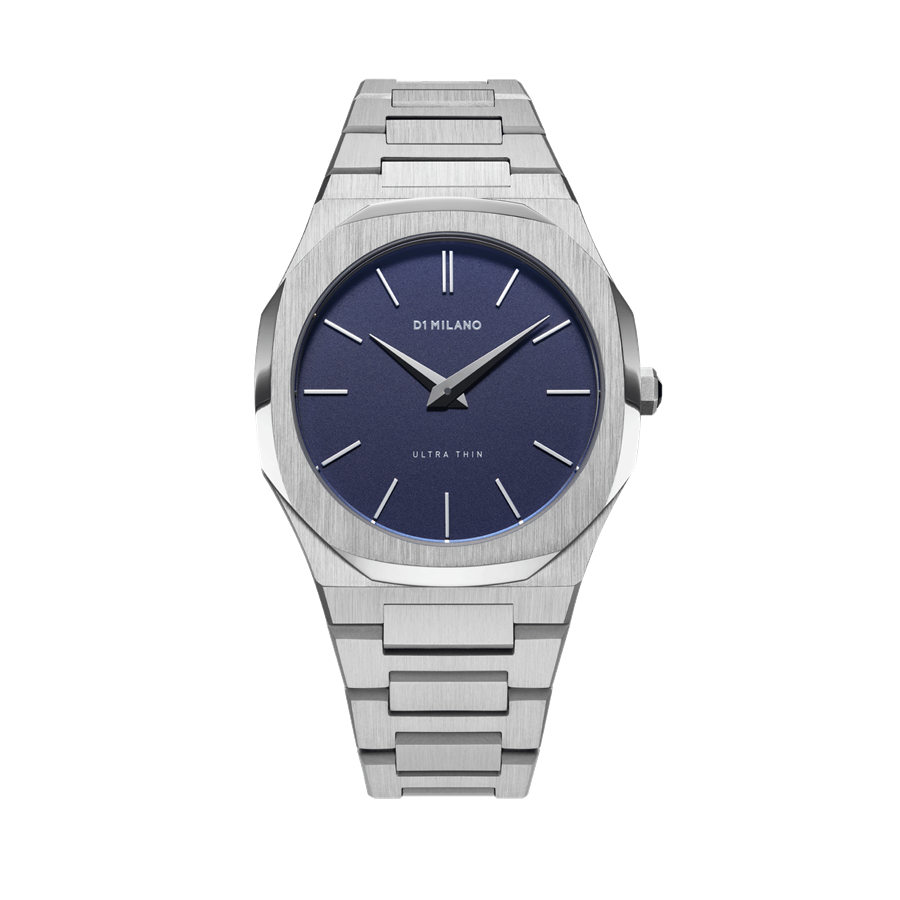 D1- Milano Ultra Thin Silver Blue Watch UTBU01