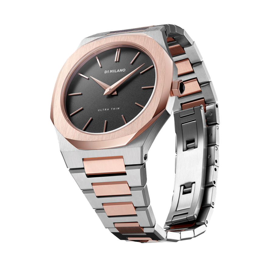 D1- Milano Ultra Thin Bicolor Steel Watch UTBU03