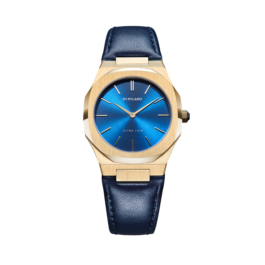 D1- Milano Ultra Thin Blue Watch UTLL15