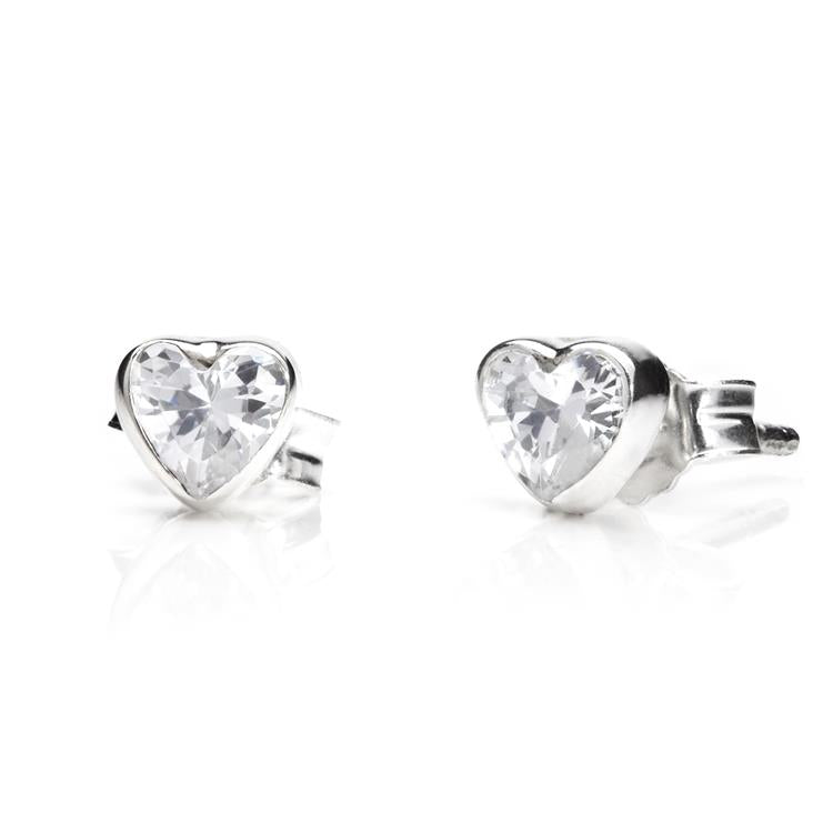 Annie Haak Crystal Heart Silver Earrings
