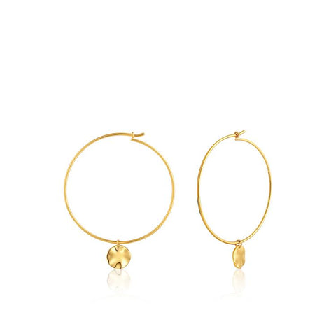 Ania Haie Ripple Hoop Earrings E007-04G