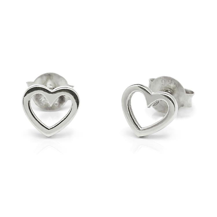 Annie Haak Open Heart Silver Earrings