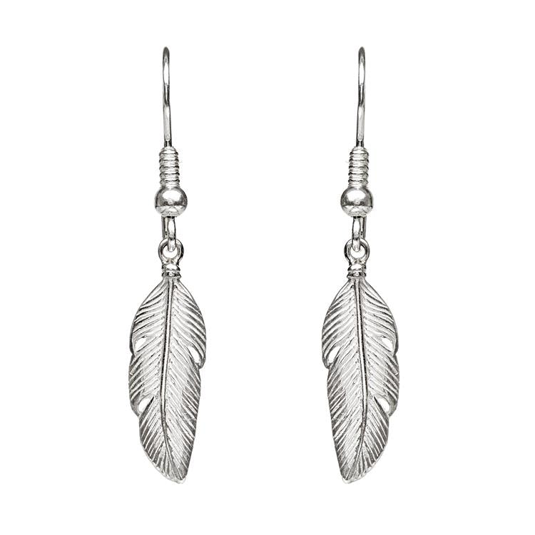 Annie Haak Silver Feather Earrings