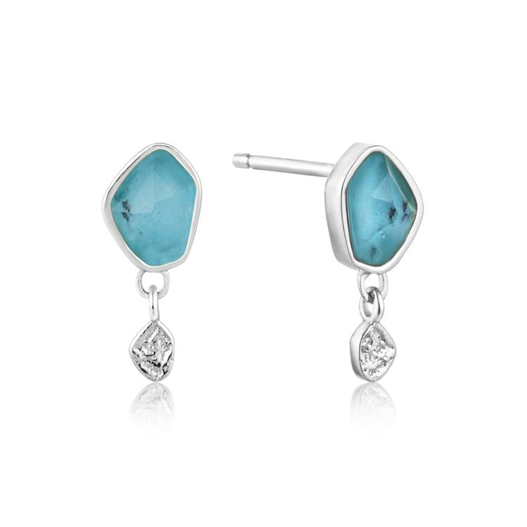 Ania Haie Turquoise Drop Stud Earrings E014-01H