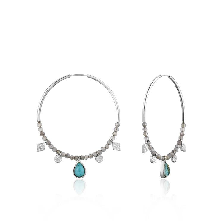 Ania Haie Turquoise Hoop Earrings E014-05H
