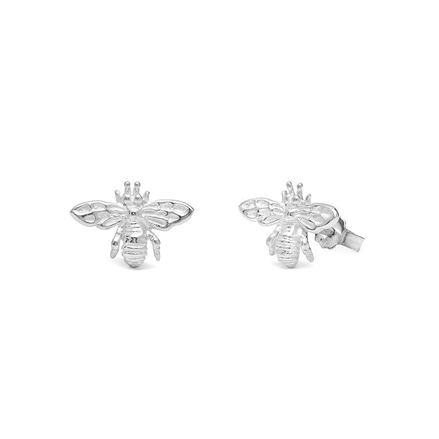 Annie Haak Tiny Bee Silver Stud Earrings