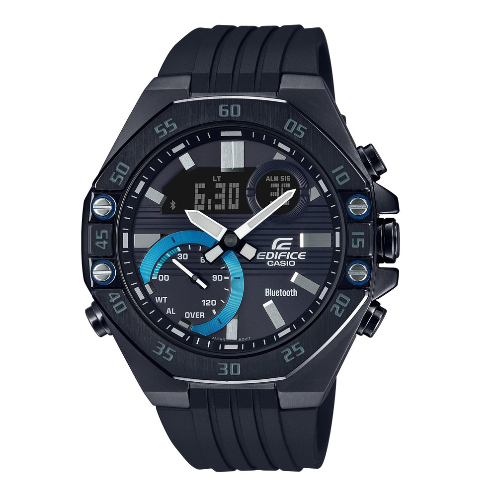 Casio Edifice Black Blue Circle ECB-10PB-1AEF