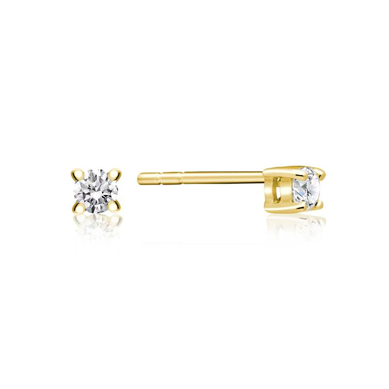Achara Solitaire Zirconia Gold Stud Earrings