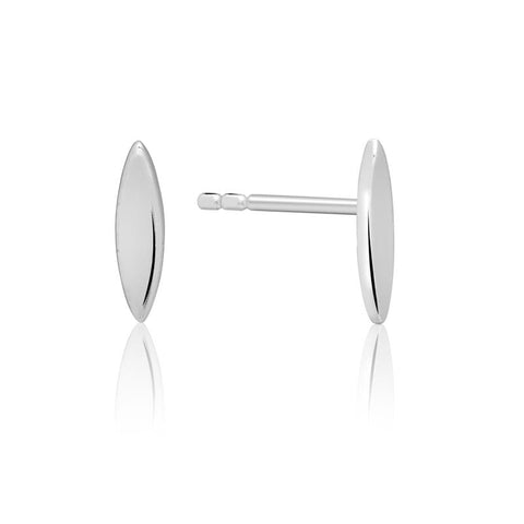 Achara Minimal Marquise Shaped Stud Earrings