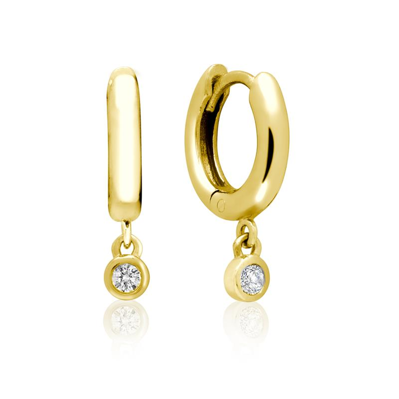 Achara Sparkling Zirconia Drop Huggie Hoop Earrings