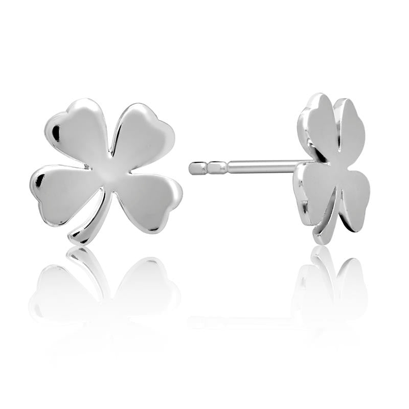 Achara Lucky Clover Stud Earrings