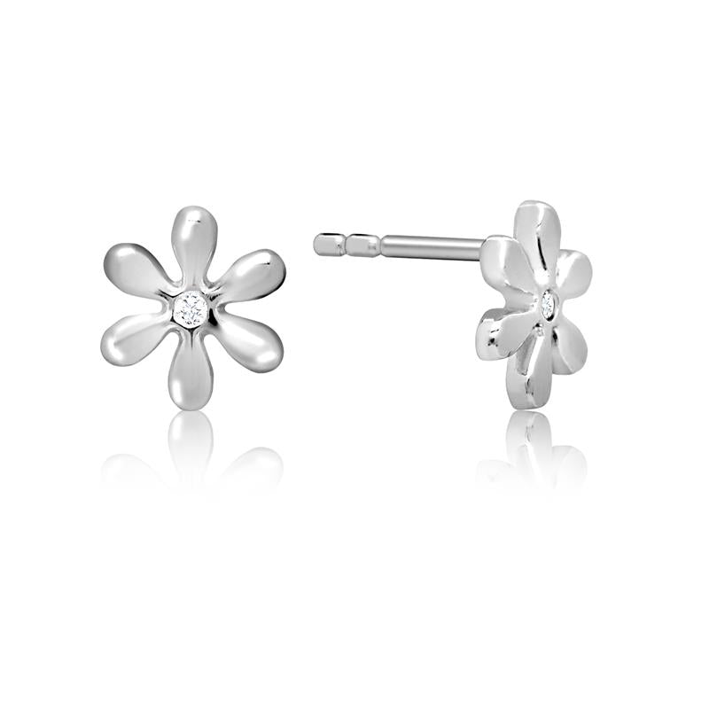 Achara Small Cubic Zirconia Daisy Stud Earrings