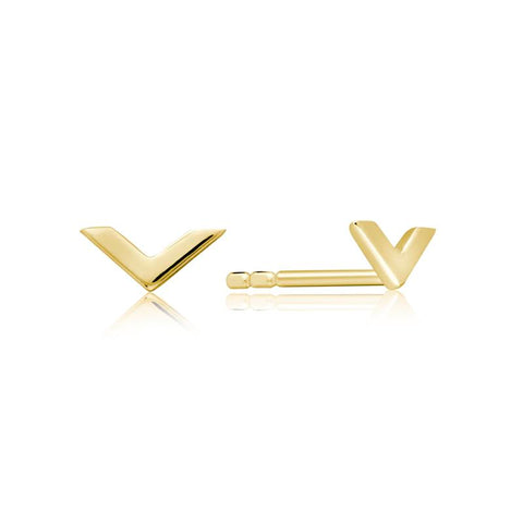 Achara Small Chevron Stud Earrings