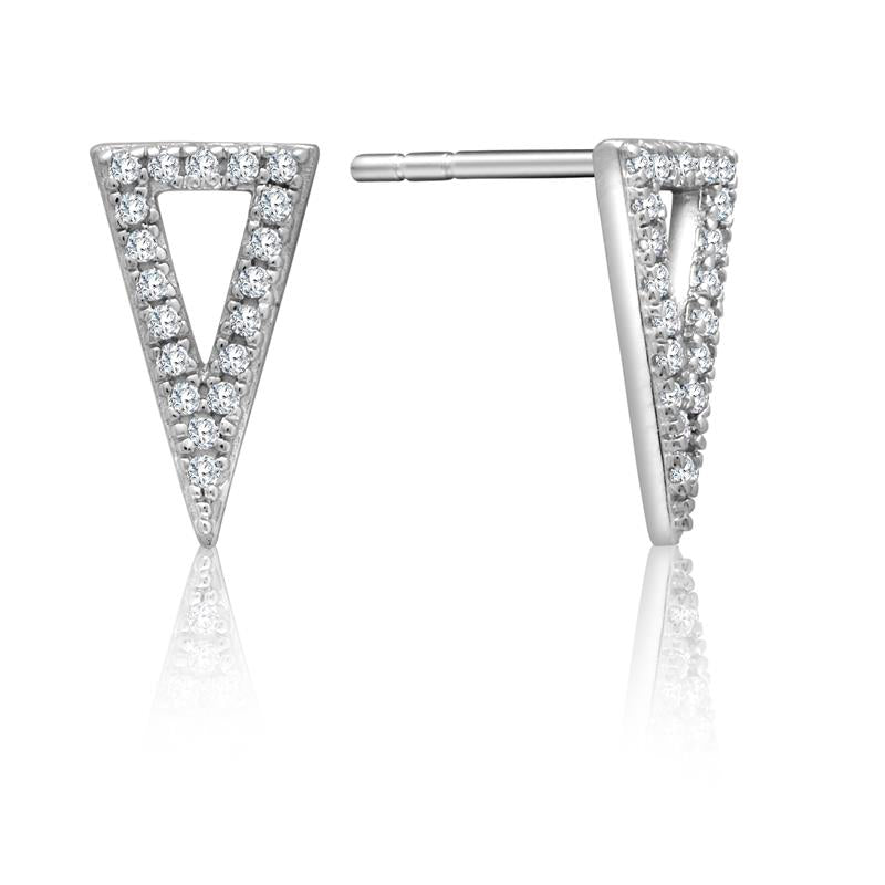 Achara Cubic Zirconia Triangle Stud Earrings
