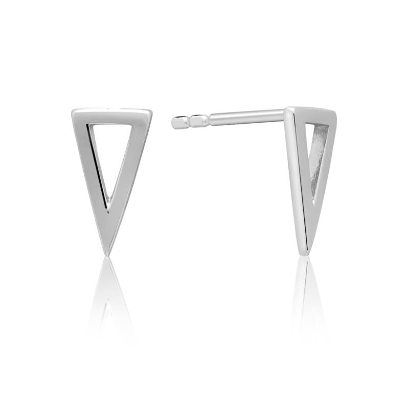 Achara Geometric Small Triangle Stud Earrings