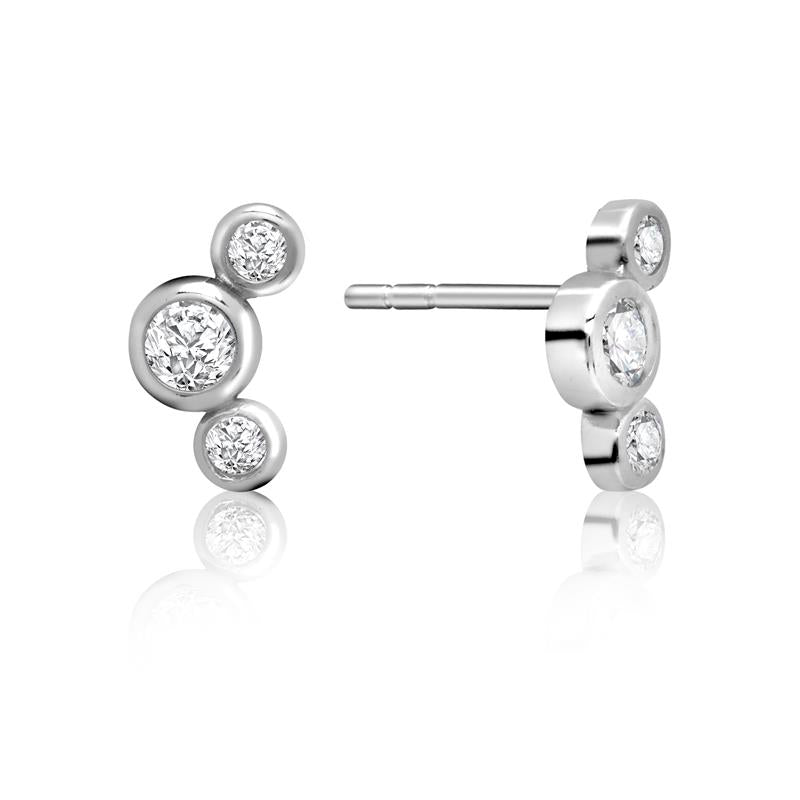 Achara Triple Dot Zirconia Stud Earrings