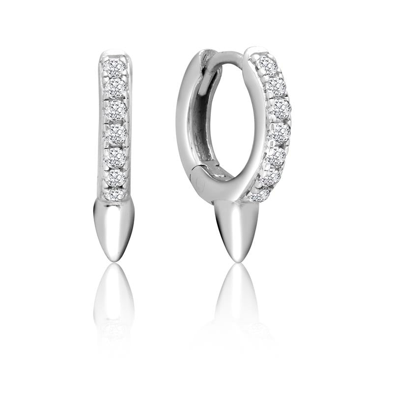 Achara Zirconia Spike Huggie Earrings