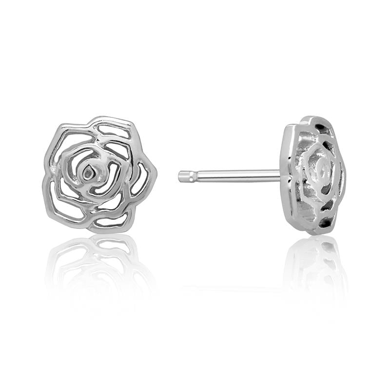 Achara Open English Rose Stud Earrings