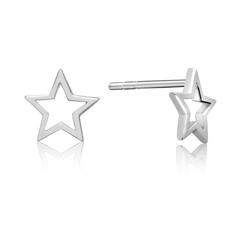 Achara Minimalist Open Star Stud Earrings