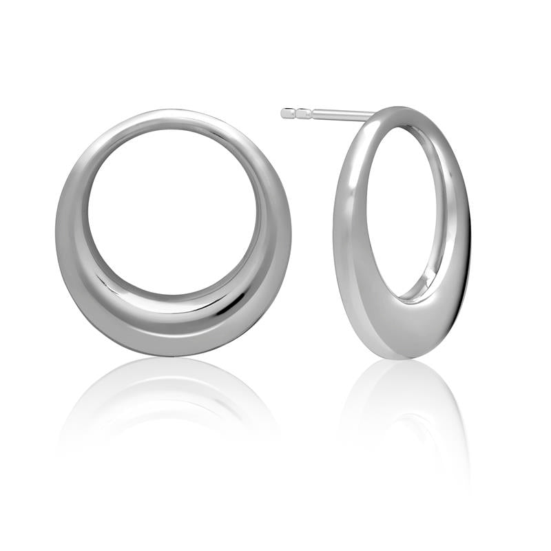 Achara Open Circle Stud Earrings