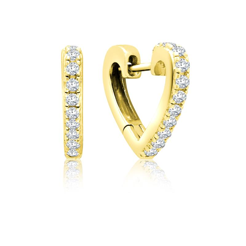 Achara Sparkling Heart Shaped Huggie Earrings