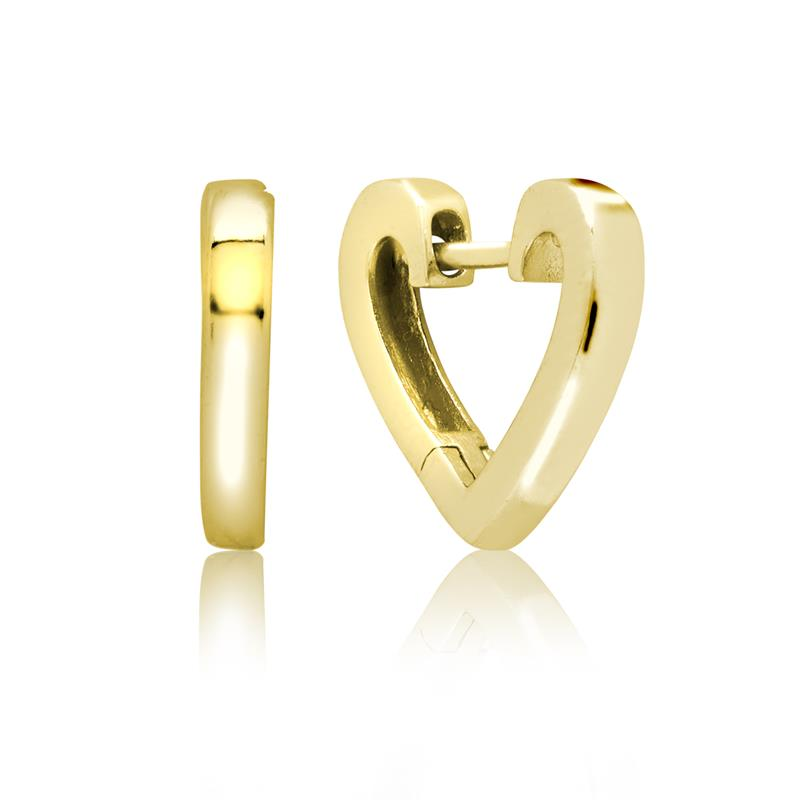 Achara Heart Shaped Huggie Earrings