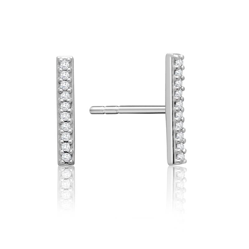 Achara Zirconia Stone Bar Stud Earrings