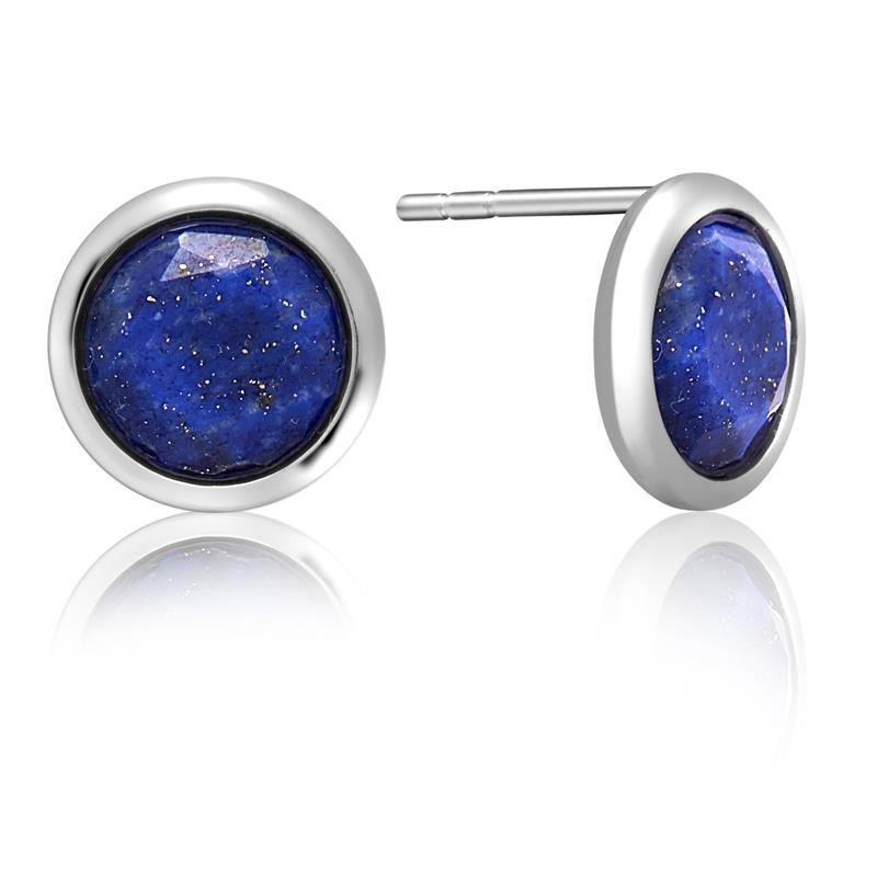 Achara Spectacle Lapis Lazuli Blue Stud Earrings