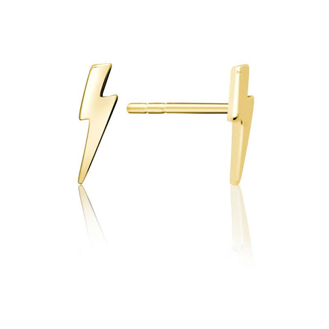 Achara Lightning Bolt Stud Earrings