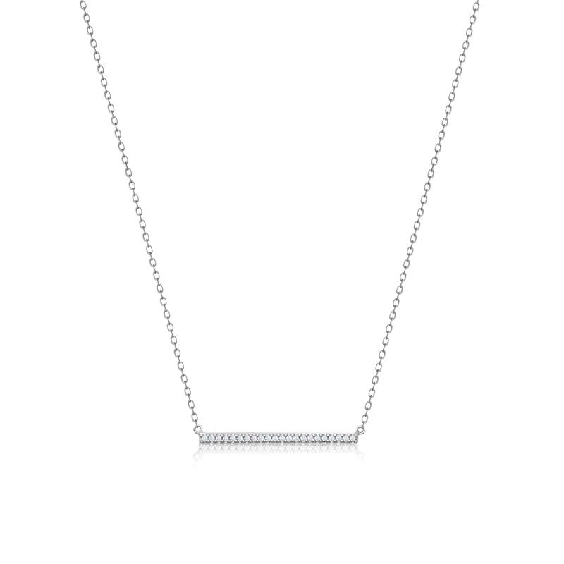 Achara Sparkling Zirconia Bar Necklace
