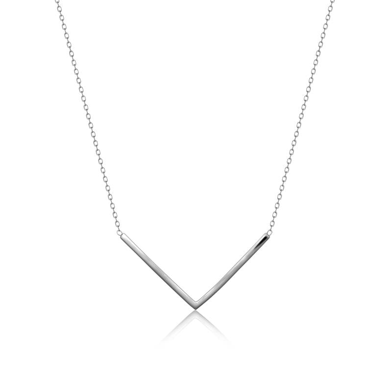 Achara Geometric Chevron Necklace