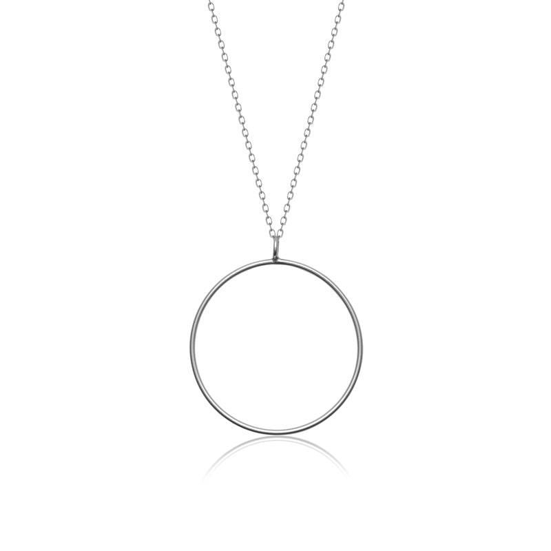Achara Minimalist Open Circle Necklace