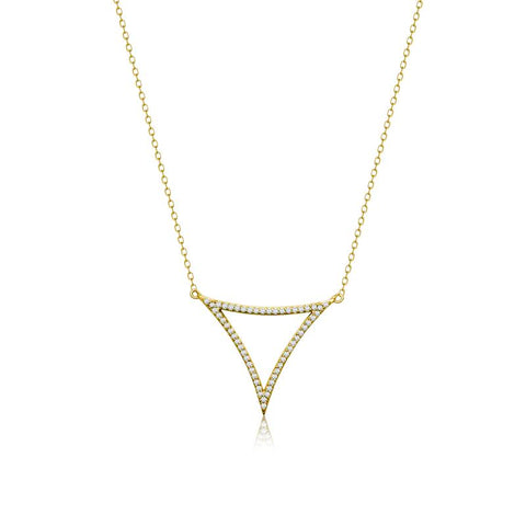 Achara Minimalist Open Triangle Necklace