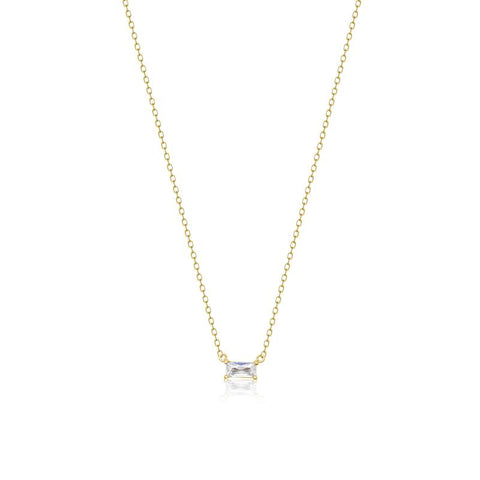 Achara Small Baguette Cubic Zirconia Necklace