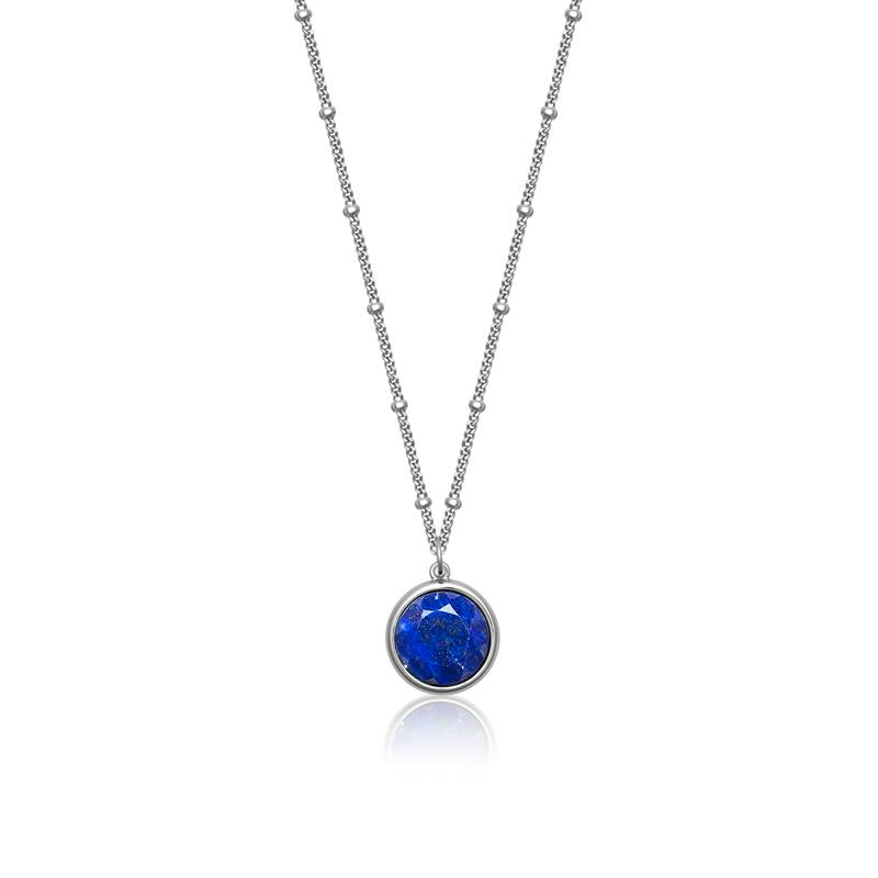 Achara Spectacle Blue Lapis Lazuli Pendant Necklace