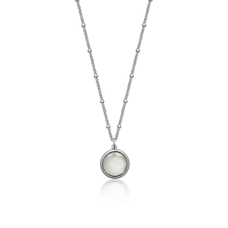 Achara Spectacle White Moonstone Pendant Necklace