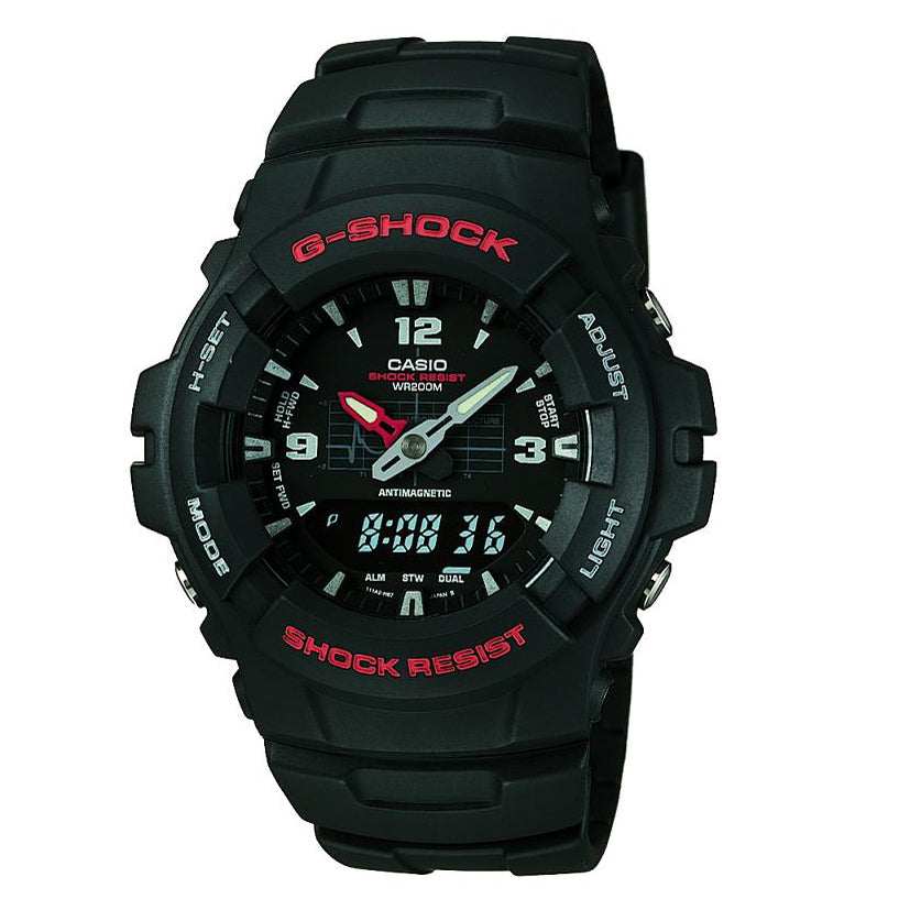 Casio G-Shock Black Dial Watch G-100-1BVMUR
