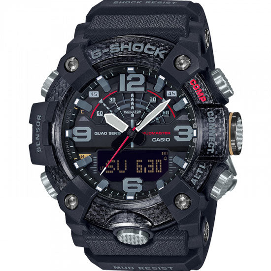 Casio Mudmaster Black Carbon Core Guard GG-B100-1AER