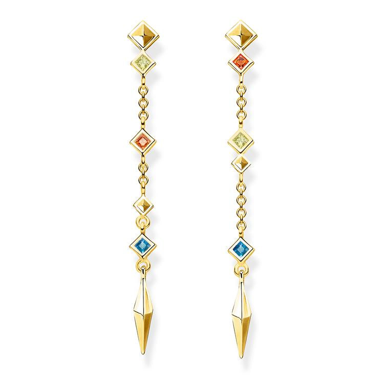 Thomas Sabo Long Dangle Gold Earrings H2036-971-7