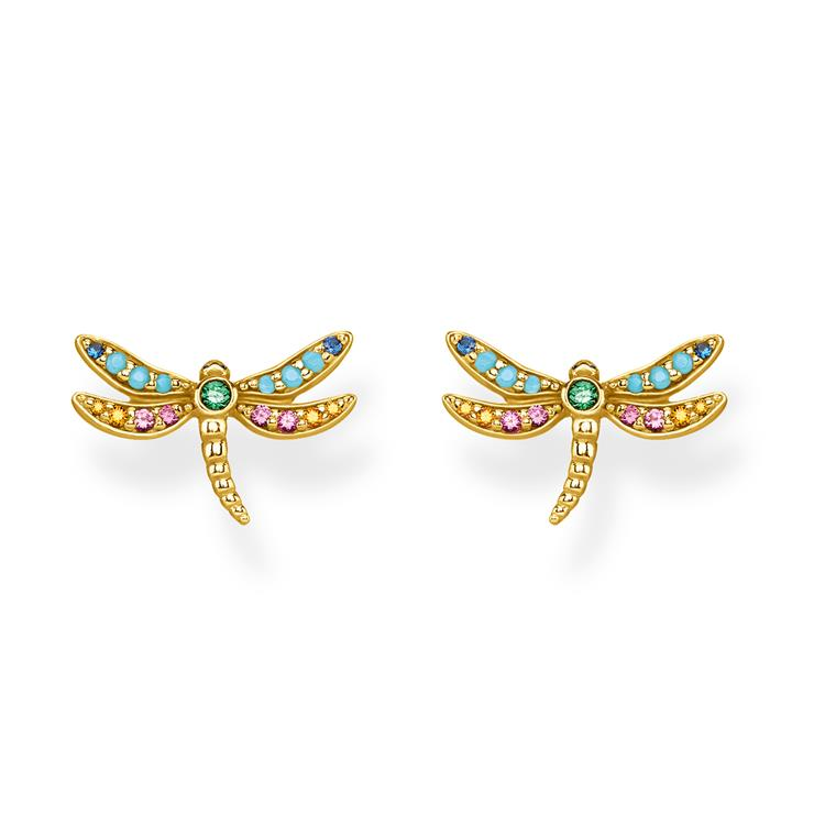 Thomas Sabo Gold Dragonfly Earrings H2051-315-7
