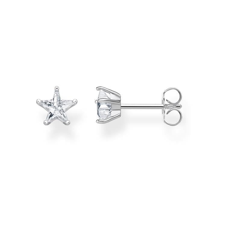 Thomas Sabo Silver Star Stud Earrings H2079-051-14