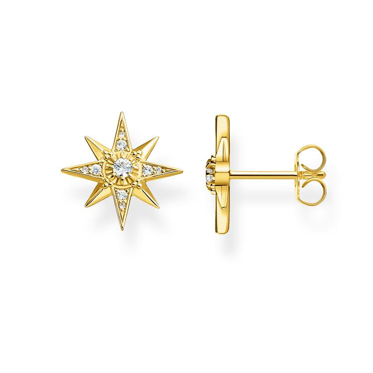 Thomas Sabo Gold Star Stud Earrings H2081-414-14