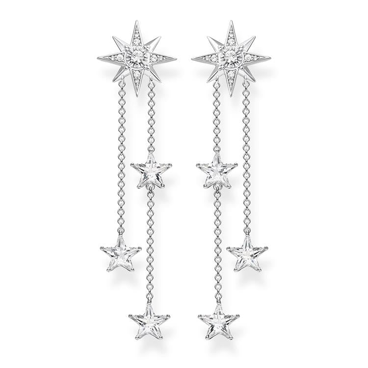 Thomas Sabo Silver Stars Drop Earrings H2084-051-14