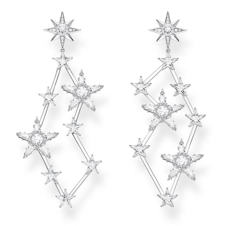 Thomas Sabo Long Starry Drop Earrings H2085-051-14