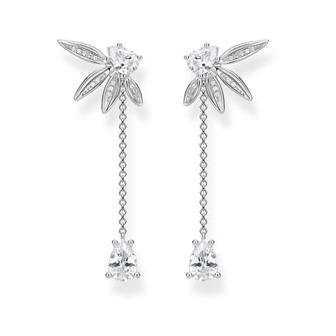 Thomas Sabo Silver Leaves Chain Earrings H2105-051-14