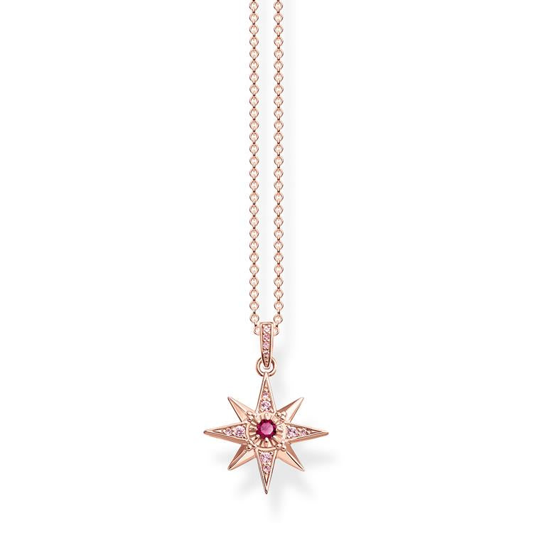 Thomas Sabo Rose Gold Star Necklace KE1897-626-10