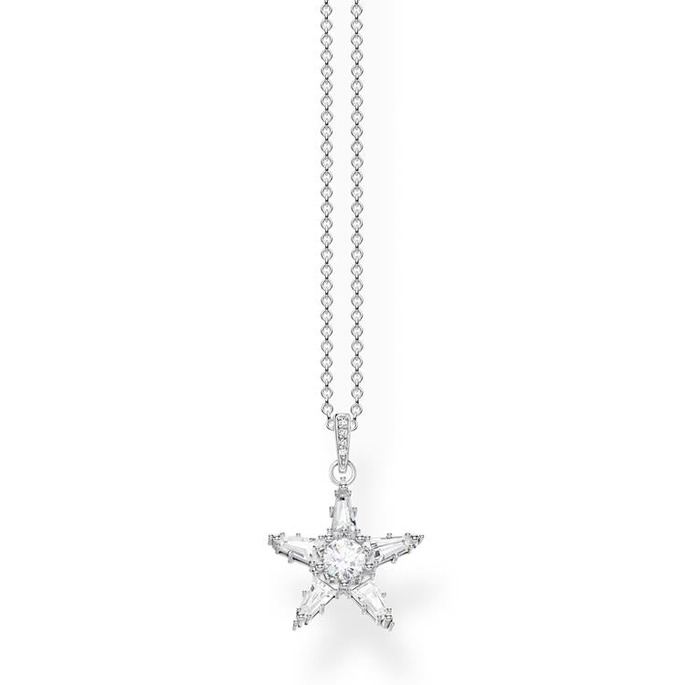 So Chic Jewels Sold alone: chain not included 925 Sterling Silver Clear Cubic Zirconia 2 Stars Pendant